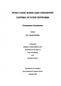 fuzzy logic based aqm congestion control in tcp/ip networks