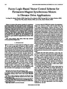 Fuzzy-Logic-Based Vector Control Scheme for ... - IEEE Xplore