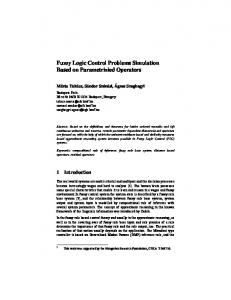Fuzzy Logic Control Problems Simulation Based ... - Semantic Scholar