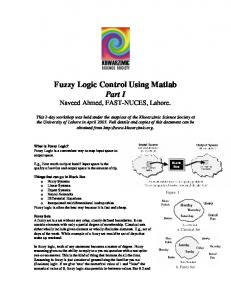 Fuzzy Logic Control Using Matlab Part I