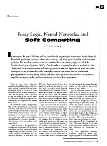 Fuzzy Logic, Neural Networks, and Soft Computing-1994
