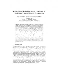 Fuzzy-Pareto-Dominance and its Application in ... - Semantic Scholar