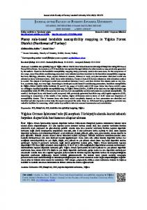 Fuzzy rule-based landslide susceptibility mapping in ... - DergiPark