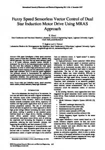 Fuzzy Speed Sensorless Vector Control of Dual Star Induction Motor ...