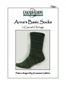 Fw01 Annas Basic Sock Pattern.pub - Cascade Yarns