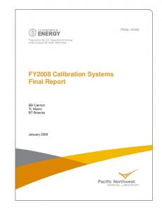 FY2008 Calibration Systems - Pacific Northwest National Laboratory