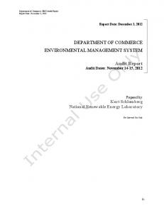 FY2012 Annual Audit Report