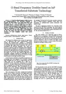 G-Band Frequency Doubler Based on InP Transferred ... - IEEE Xplore