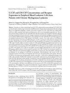 G-CSF and GM-CSF Concentrations and Receptor ... - Semantic Scholar
