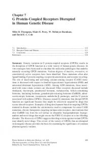 G Protein-Coupled Receptors Disrupted in Human ... - Springer Link