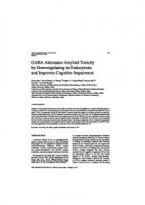 GABA Attenuates Amyloid Toxicity by Downregulating ...