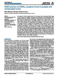 GABA potency at GABAA receptors found in synaptic ... - BioMedSearch