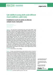 Gait stability in young adults under different visual conditions ... - SciELO