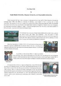 Gajah Mada university, udayana university, and Hasanuddin university