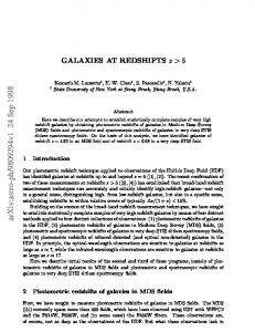Galaxies at Redshifts z> 5