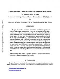Galaxy Rotation Curves Without Non-Baryonic Dark Matter - arXiv