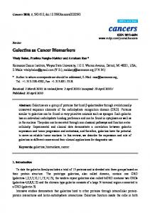Galectins as Cancer Biomarkers