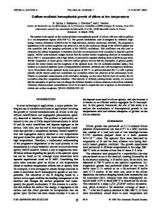 Gallium-mediated homoepitaxial growth of silicon ... - APS Link Manager