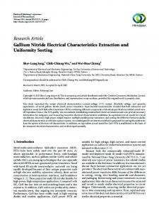 Gallium Nitride Electrical Characteristics Extraction and Uniformity ...