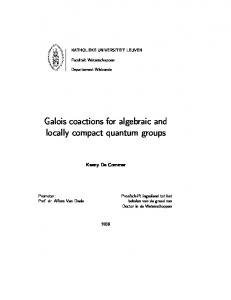 Galois coactions for algebraic and locally compact