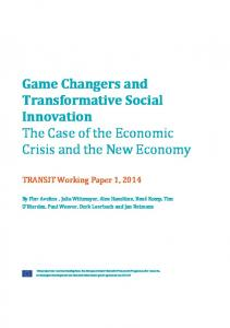 Game Changers and Transformative Social Innovation The Case of ...