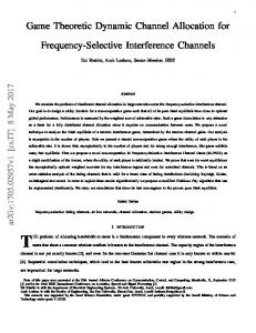 Game Theoretic Dynamic Channel Allocation for Frequency-Selective ...