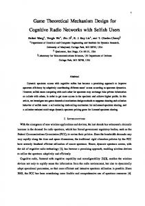 Game Theoretical Mechanism Design for ... - Semantic Scholar
