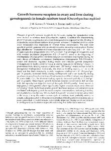 gametogenesis in female rainbow trout (Oncorhynchus ... - Reproduction