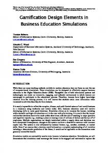 Gamification Design Elements in Business Education ...