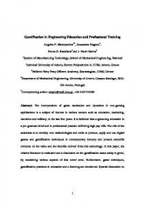 Gamification in Engineering Education and ...