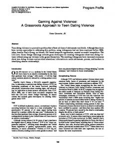 Gaming Against Violence: A Grassroots Approach to Teen Dating