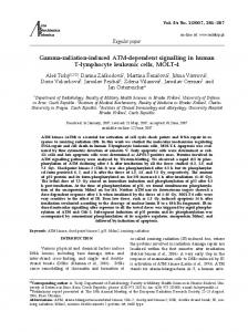Gamma-radiation-induced ATM-dependent signalling in human T ...