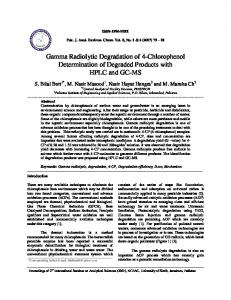 Gamma Radiolytic Degradation of 4-Chlorophenol Determination of ...