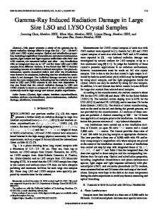 Gamma-Ray Induced Radiation Damage in Large Size ... - CiteSeerX