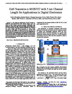 GaN Nanowire n-MOSFET with 5 nm Channel Length