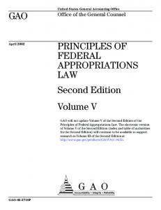Gao 06 382sp Principles Of Federal Appropriations Law