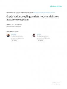 Gap Junction Coupling Confers Isopotentiality on ...