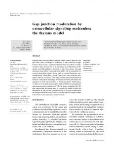 Gap junction modulation by extracellular signaling