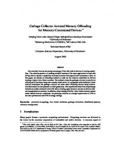 Garbage Collector Assisted Memory Offloading for ... - cs.rochester.edu