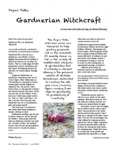Gardnerian Witchcraft - Reclaiming Quarterly