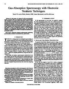 Gas-absorption spectroscopy with electronic terahertz techniques