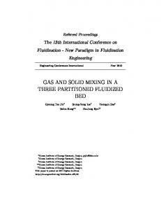 GAS AND SOLID MIXING IN A THREE PARTITIONED FLUIDIZED BED