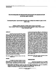 Gas chromatography and photoacoustic spectroscopy ... - UFRGS Lume