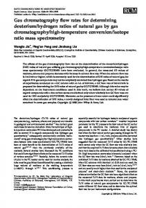 Gas chromatography flow rates for determining ... - Wiley Online Library