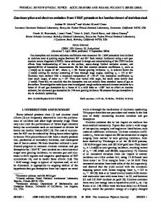 Gas desorption and electron emission from 1 ... - APS Link Manager