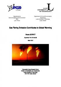 Gas Flaring Emission Contributes to Global Warming