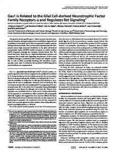 Gas1 Is Related to the Glial Cell-derived Neurotrophic Factor Family ...