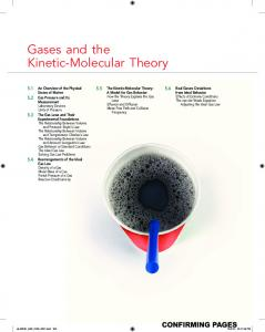 Gases and the Kinetic-Molecular Theory - McGraw-Hill Higher ...