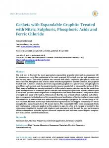 Gaskets with Expandable Graphite Treated with Nitric, Sulphuric