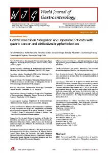 gastric cancer and Helicobacter pylori infection - Baishideng ...